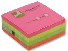 Q CONNECT KF01348  Paper Note Cubes 75X75Mm Neon